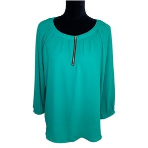 NWT | Crescent | Green | Flowy | Blouse